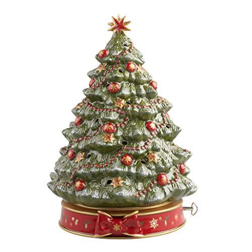 Villeroy & Boch Toy's Delight Weihnachtsbaum mit Spieluhr, Hartporzellan, Baum, 27.5 x 29 x 37 cm