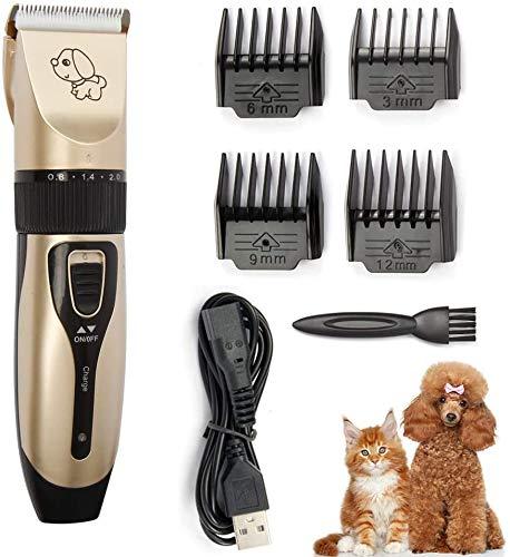WFB - Juego de cortapelos para perros, bajo ruido, eléctrico, silencioso, recargable,...