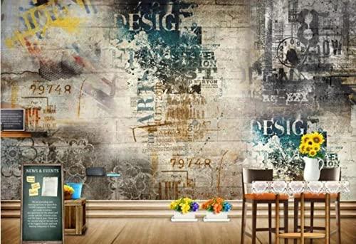 Papeles de pared Decoración para el hogar Pared Graffiti Papier Peint Mural 3d Room Retro Mural Murales-3D_Los 250x175cm