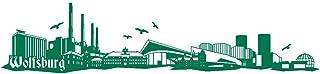 Samunshi Wandtattoo Wolfsburg Skyline Wandaufkleber in 6 Größen und 19 Farben 230x51cm grün