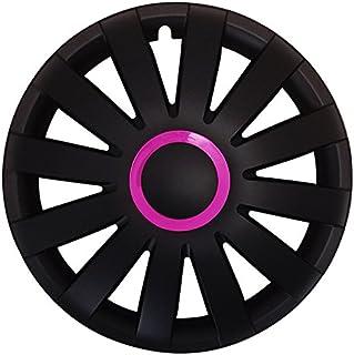 Eight Tec Handelsagentur (Größe wählbar) 14 Zoll Radkappen/Radzierblenden AGAT Race PINK passend für Fast alle Fahrzeugtypen – universal