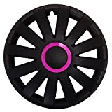 Eight Tec Handelsagentur (Größe wählbar) 15 Zoll Radkappen/Radzierblenden AGAT Race PINK passend für Fast alle Fahrzeugtypen – universal