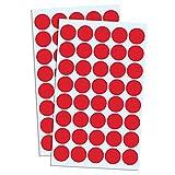 2000 Pezzi, 2cm Etichette Adesive Bollini Rotonde - Rosso