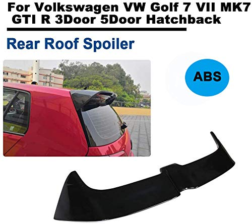 TGFOF Heckspoiler Dachspoiler Kofferraumspoiler Heckflügel Lipp ABS Glänzend Schwarz für Golf 7 VII MK7 GTI R 2014-2018