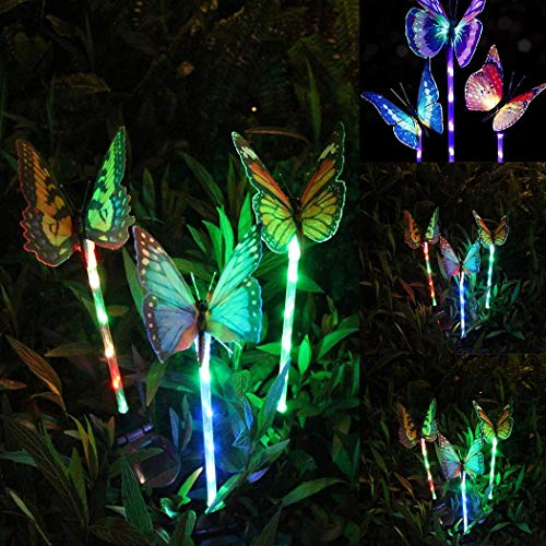 Decorazioni per Cortile Esterno a LED a Forma di Farfalla con Luce Solare