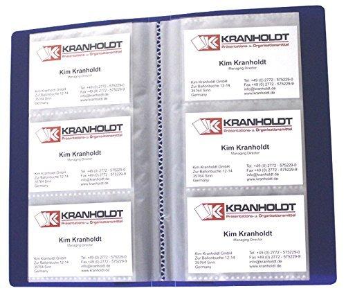 exxo by HFP tarjeta de visita libro con eingeschweißten Fundas, color azul 210x120mm