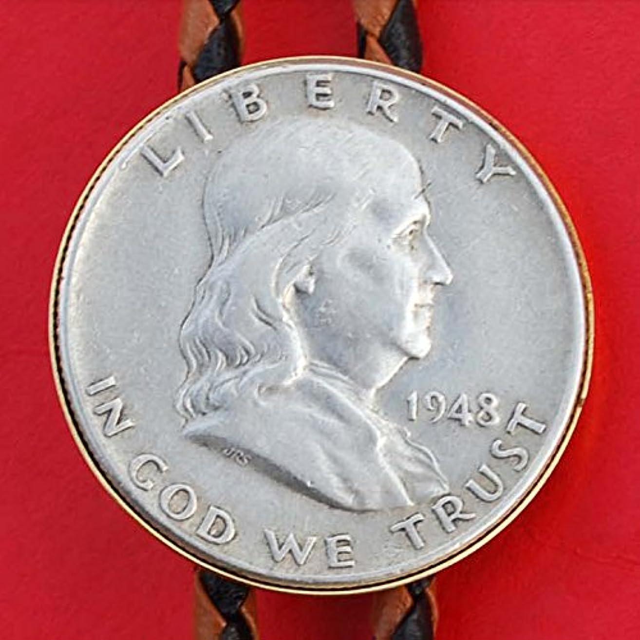 US 1948 Franklin Half Dollar 90% Silver Coin Simple Slide 36