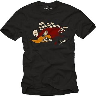 MAKAYA Camisetas Coches y Motos Clasicos - Carreras Tuning - Hombres Originales Motocross Racing