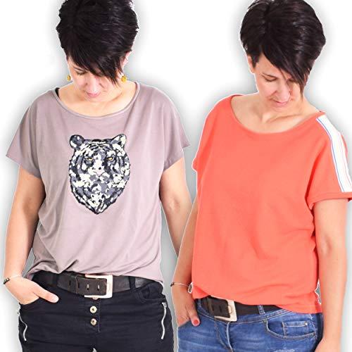 leni pepunkt Schnittmuster Damen Shirt in den Größen 32-58 zum Nähen mit Anleitung und 5 Webetiketten