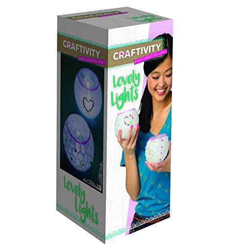 CRAFTIVITY Lovely Lights Craft Kit - Makes 2 Decoupage Tea Light Lanterns