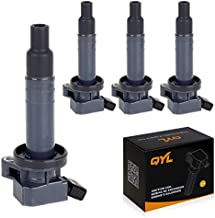 QYL Pack of 4Pcs Ignition Coils Replacement for Chevrolet Prizm/Toyota Celica Corolla Matrix Mr2 Spyder/Pontiac Vibe UF247 9091902239 C1249 5C1074