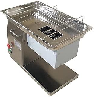 TECHTONGDA QH 110V 550W Commercial Meat Cutting Machine Slicer Cutter 5mm Blade 250Kg/Hour 145mm Feeding Port