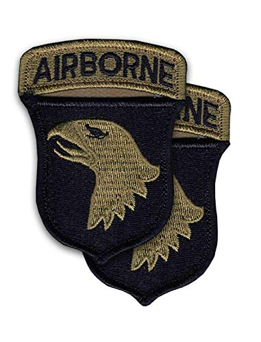 101st Airborne New OCP Scorpion Patch And Airborne Tab Sewn Together W/Hook Fastener (pair)