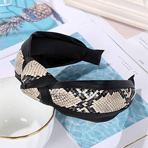 Turbantes Headband Diademas para Mujer Turbantes Diadema De Tela De Moda Tocado Anudado Cruzado Bisel De ala Ancha Horqu