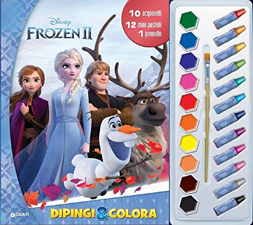 Frozen 2. Dipingi &colora. Con 12 pastelli a cera, 10 acquerelli e 1 pennello