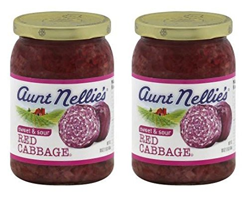 Aunt Nellies Sweet & Sour Red Cabbage 16 oz (Pack of 2)