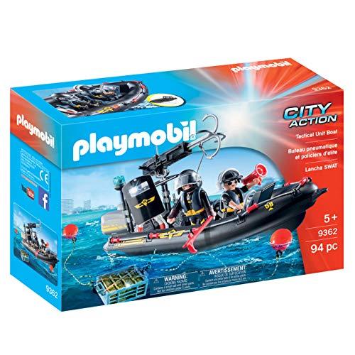 Playmobil - Bateau pneumatique et policiers d'élite - 9362