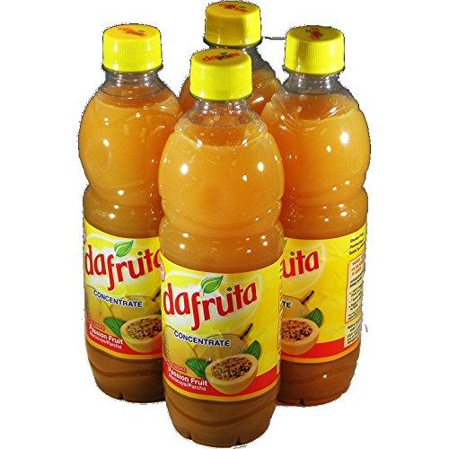 Dafruta Passion Fruit Juice Concentrate - 16.9 FL.Oz   Suco Concentrado de Maracujá Dafruta - 500ml - (PACK OF 04)