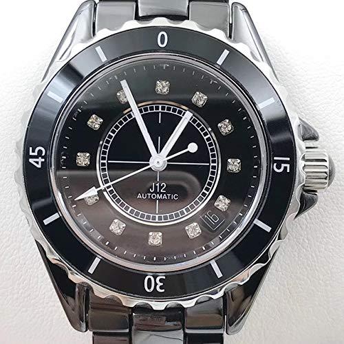 GFDSA Automatische horloges Luxe merk Automatische mechanische heren armband Saffier Keramiek Zilver Wit Zwart Keramiek Bezel Diamanten Datum horloges 38 mm