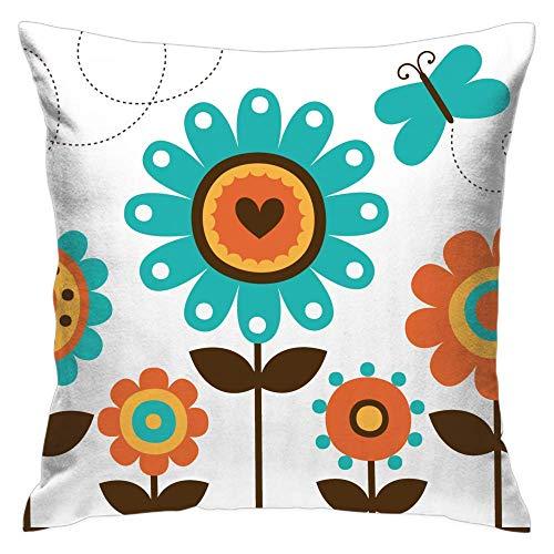 N\A Sun Flower Dekorative Packung mit 1 quadratischen Kissen Kissenbezug, Bequeme Schutzhüllen für Sofa Home Couch