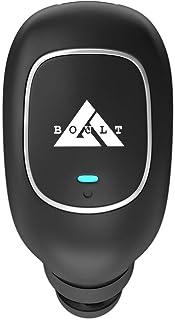 Boult Audio AirBass Monopod in-Ear Wireless Bluetooth Earphones with inbuilt Mic and IPX4 Sweatproof (Black)