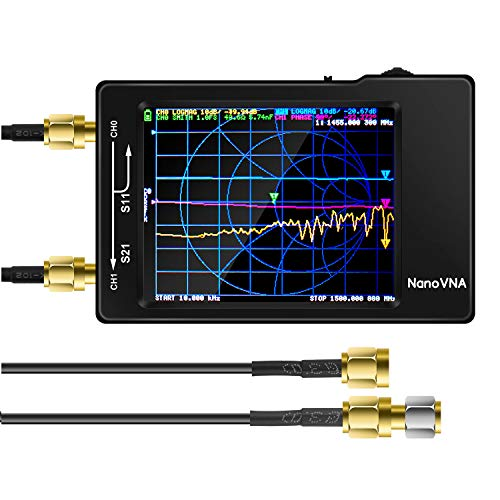 【Upgraded】AURSINC Vector Network Analyzer 10KHz -1.5GHz HF VHF UHF Antenna Analyzer Measuring S Parameters, Voltage Standing Wave Ratio, Phase, Delay, Smith Chart(Latest Version REV3.4)