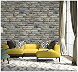 Peel and Stick Wallpaper Brick Removable Wallpaper 3D Effect Textured Wallpaper for Bedroom 17.7' x 196.9'