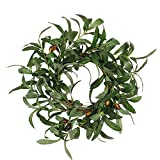 Home Decoration Flower Wreath, Elevin(TM) 45CM Green Olive Branch Wreath Wall Ornament Christmas Thanksgiving Decoration