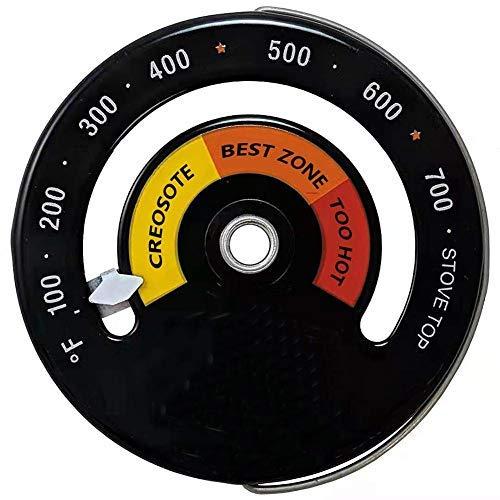Stronrive Termómetro Estufa Leña - Termómetro Estufa Magnética para Estufa Leña Estufas Gas Estufa Estufa Pellets para Evitar Que El Ventilador La Estufa Se Dañe por El Sobrecalentamiento