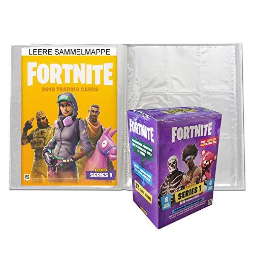 Fortnite Panini Trading Cards - 1 Blaster Box + 1 Leere Sammelmappe