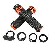 luobu Puños de Manillar Motorcycle CNC 7/8'22mm De Manillar De Aluminio Termina para Vespa Acuario 125/200 GTS 125/250 S125/150/300 Super (Color : Naranja)