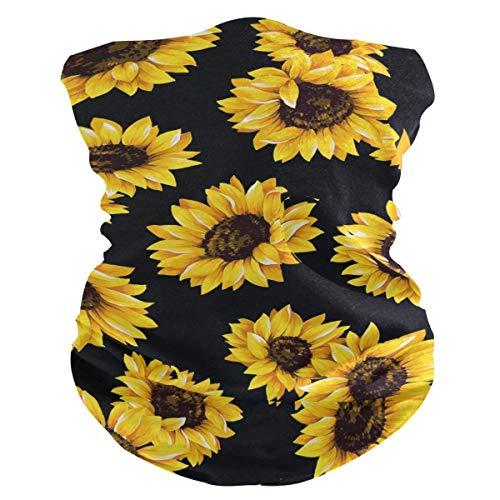 Zomerband zonnebloem patroon print gezicht UV-bescherming zonnescherm masker sjaal Magische bandana hoofdkap voor dames heren