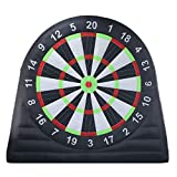 SAYOK Outdoor Oxford Cloth Inflatable Soccer Darts Board with 8pcs Inflatable Balls for Sports Game(10ft Tall, Black)