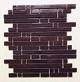 Mosaico sobre red de gres porcelánico de cerámica, fabricado en Italia – PYPER 681 Violet