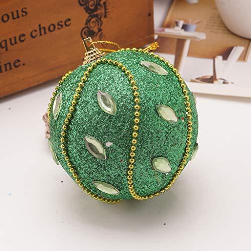 Christmas Rhinestone Glitter Baubles Ball Xmas Tree Ornament Decoration 8CM Home & Garden Decoration & Hangs