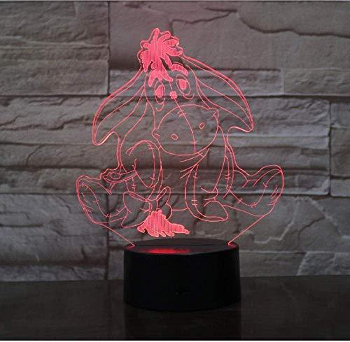Winnie L'Ourson Ours Ami Mignon Dessin Animé 3D Led Veilleuse 7 Couleur Tactile Lampe De Table Décoration De La Maison Enfants Vacances Décoration Cadeau