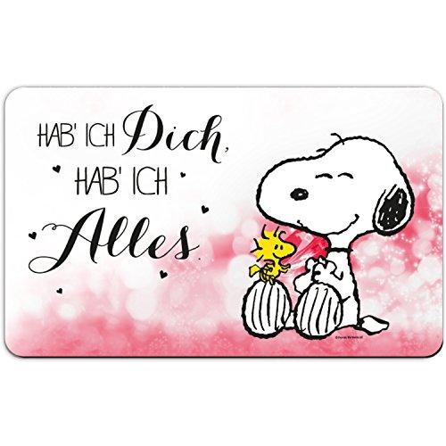 Peanuts Snoopy Collection - Brettchen Hab ich Dich, hab ich Alles, 23,5 x 14,5 cm