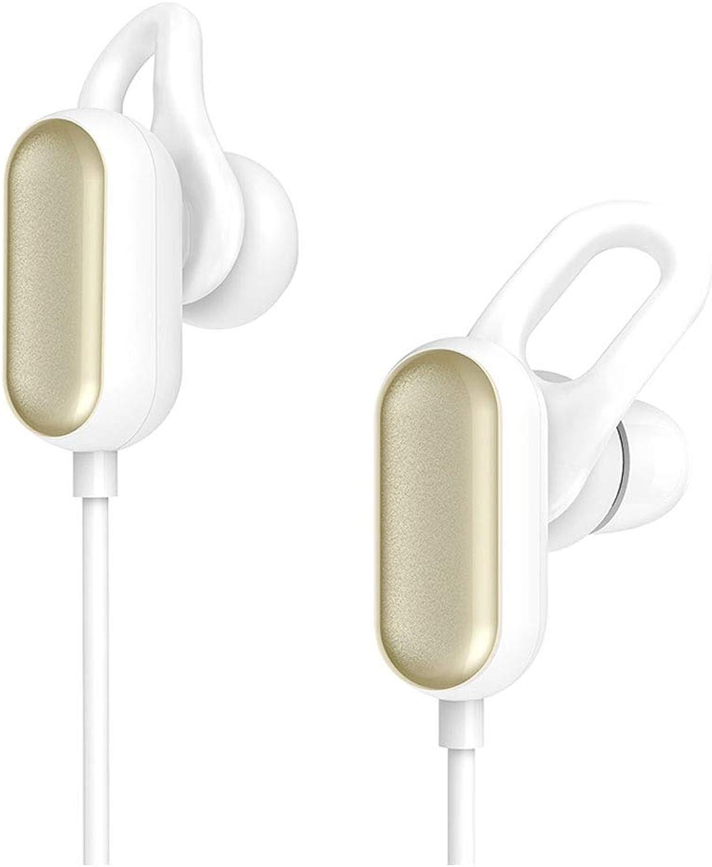 HPYS Sport Blautooth Headset Kopfhrer Jugend Edition Blautooth mit Mikrofon wasserdicht Lange Standby Weiß