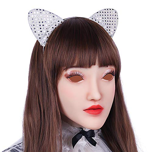 CYOMI Silikon-Maske realistisch Crossdresser Drag Queen Karneval Cosplay Halloween Oktoberfest Maskerade - Sophias Frauenmaske voller Kopf - 1. Generation