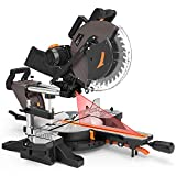 TACKLIFE Sliding Compound Miter Saw 12-Inch, 1700W, 3800rpm, Double-Bevel Cut...