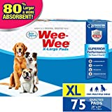 Wee-Wee Puppy Training Pee Pads 75-Count 28' x 34' X-Large Size Pads for Dogs
