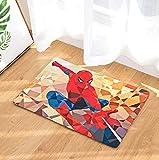 GjbCDWGLA Creative Géométrique Puzzle Spiderman Tapis De Bain Doux Mode Antidérapant Tapis De Salle De Bain Tapis De Bain Lavable À l'eau Tapis De Douche 50 * 80 Cm