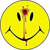 Vinyl Overlays 720 1-4' Smiley Face Dead Decal Head Shot Bullet Hole Guns Sticker Car Bumper Window Decal Blood