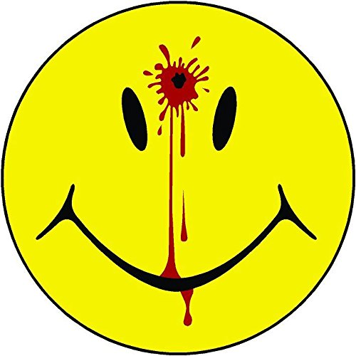 Vinyl Overlays 720 1-4' Smiley Face Dead Decal Head Shot Bullet Hole Guns Sticker Car Bumper Window Decal Blood