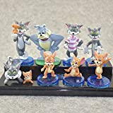 Dibujos animados Tom y Jerry PVC Figuras de acción Mini gato y ratón modelo juguetes de dibujos animados Animal Figuras regalos de los niños Regalo de graduación