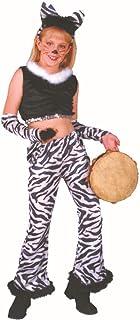 Rg_costumes Boys Rock Star-zebra, Child Large Black Large
