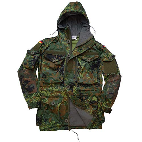 Leo Köhler BW Bundeswehr Parka KSK Einsatz-Jacke 5 Farb-Flecktarn (XL)