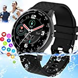 Mahipey Smart Watch,Smartwatch for Android Phone,IP67 Waterproof Sport Fitness Watch with Blood Pressure Heart Rate Monitor Activity Tracker Bluetooth Smartwatch with Calorie for Samsung iOS Women Men