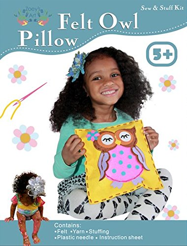 Art Craft Kits for Girls : Sewing Mini Kit for Kids, Owl Pillow Project, Creative Fun and Educational Encouragement Your Child Will Love - Create A Lasting Memorable Experience to Cherish