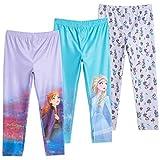 Disney Frozen Princess Anna Queen Elsa Toddler Girls 3 Pack Leggings - 4T